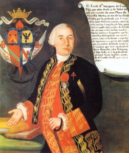 Retrato al oleo de don Francisco Javier Everando de Tilly y Paredes.